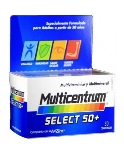 Multicentrum select 50+ 30 comprimidos