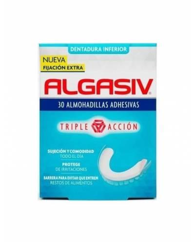 Algasiv 30 almohadillas adhesivas dentadura inferior