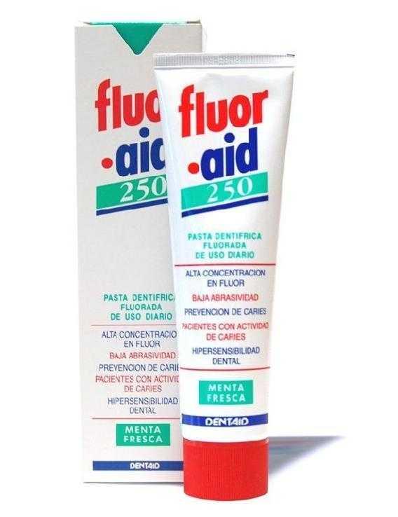 Fluor aid 250 pasta dentífrica 100 ml